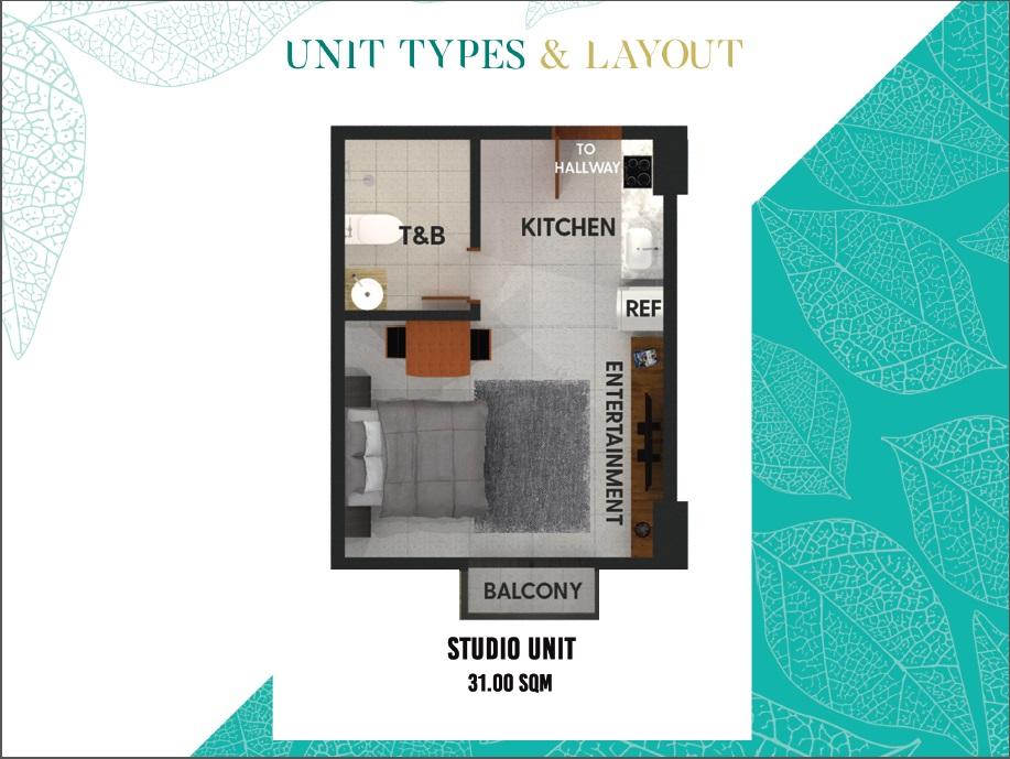 Studio Unit B 31sqm